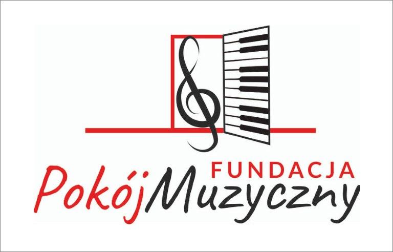Fundacja Pokój Muzyczny, logo nuta, klawisze
